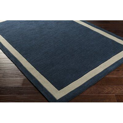 Charlton Home Goshen Hand Tufted Navy Light Grey Area Rug Rug Size