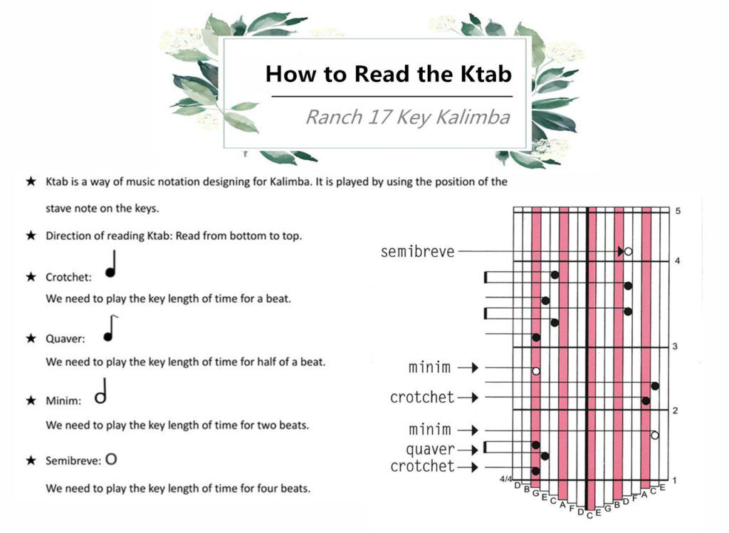 Ranch Beginners 17 Key Kalimba Lesson 1 Intro And How To Read