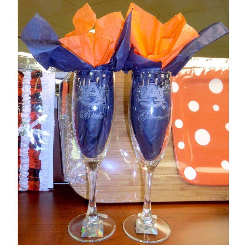 Bride & Groom champagne glasses