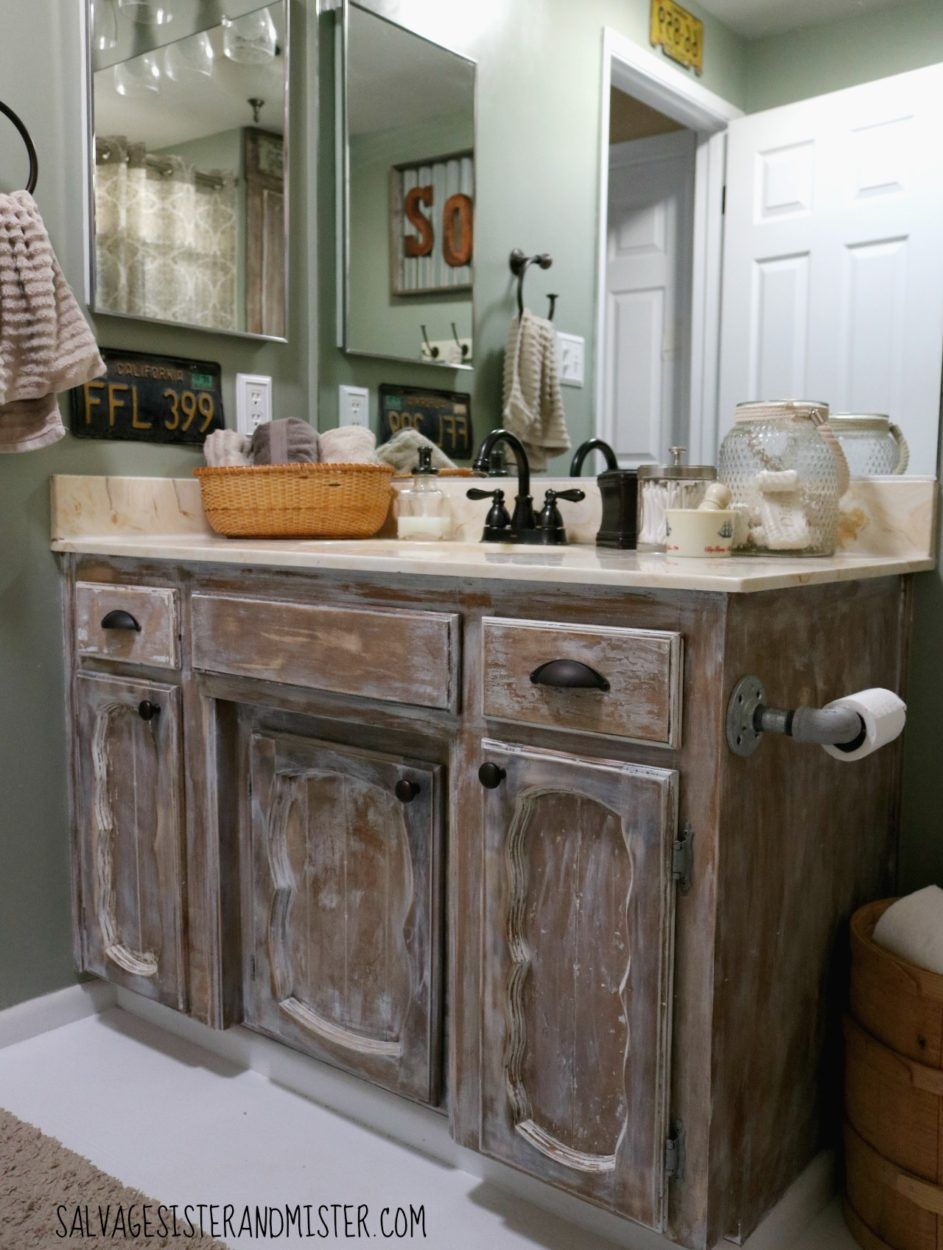 Truth in Makeovering – Low Cost Rustic Bathroom Makeover ...