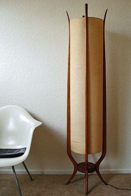 Mid Century Danish Modern Sculpted Walnut Teak Floor Lamp Retro Eames Era Diy Floor Lamp Indoor Floor Lamps Floor Lamps Living Room