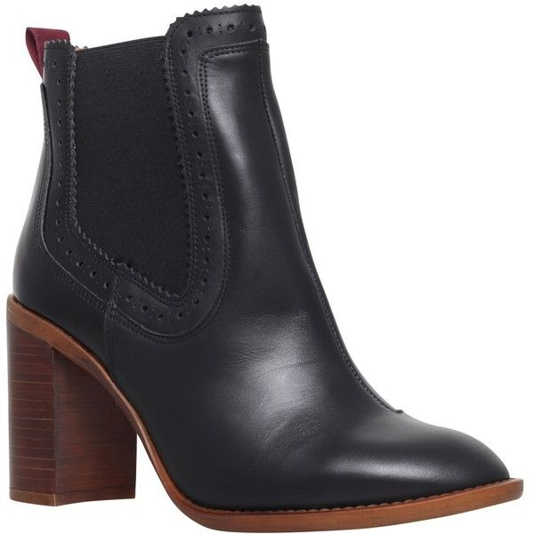 KG by Kurt Geiger Spark Leather Block Heeled Ankle Boots
