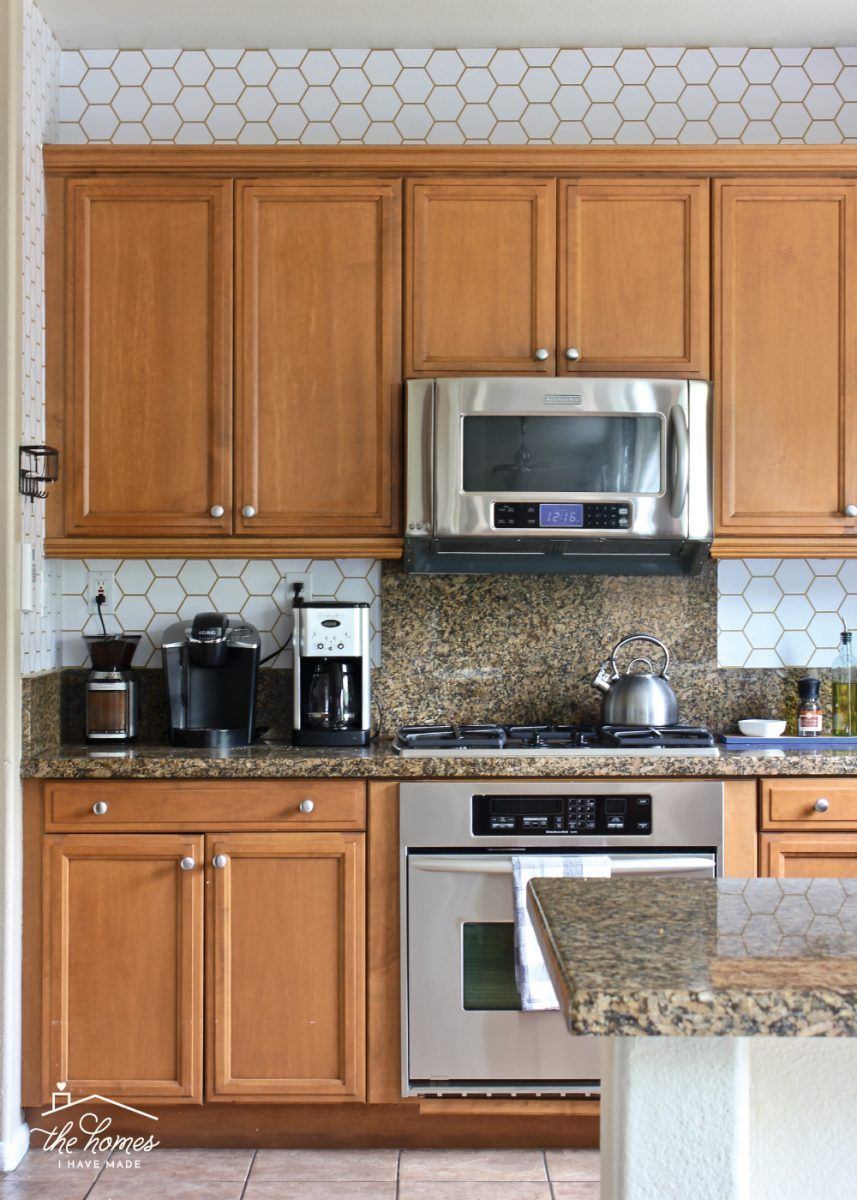 How To Wallpaper A Backsplash Wallpaper Backsplash Kitchen Backsplash Wallpaper Kitchen Wallpaper