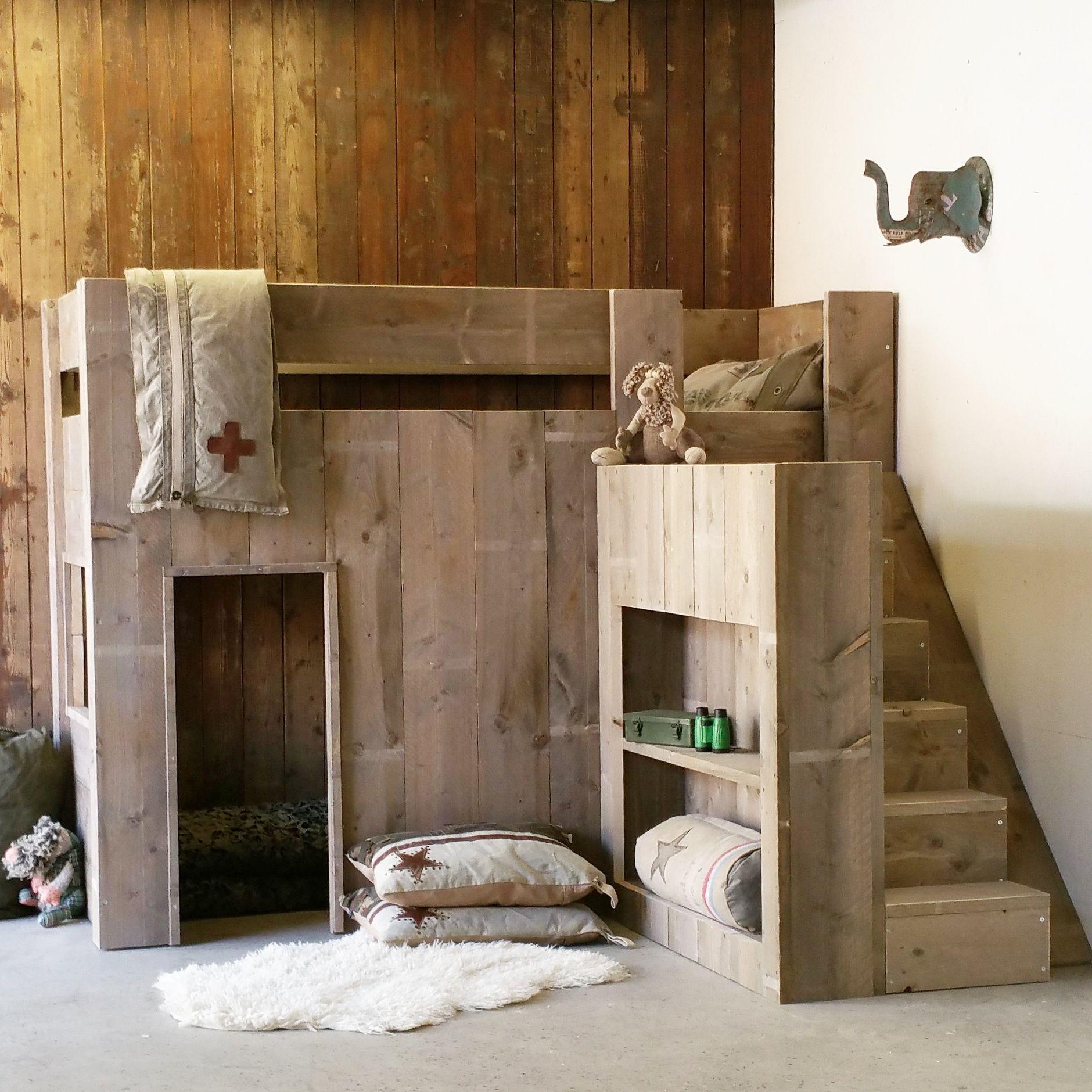 Camo loft bed with slide  Imre Nieuwenweg imre on Pinterest