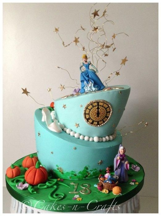 At the stroke of midnight Cinderella topsy turvy cake Cake by