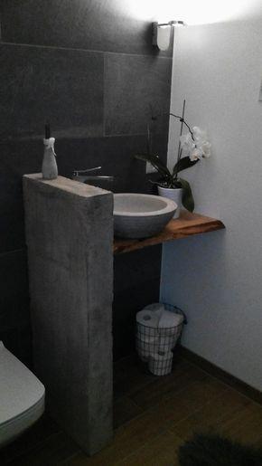 DIY Betonwand/Waschtischanlage Betonwand, Selbermachen