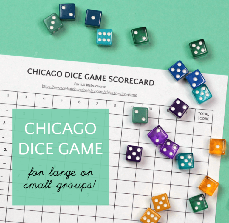 Chicago Dice Game Perfect for Large Gatherings Dice