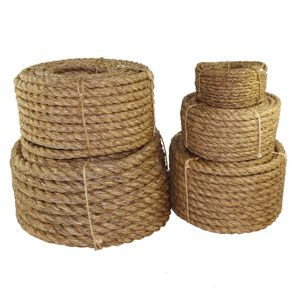 Free 2 Day Shipping Buy Twisted Manila Rope 1 2 Inch Sgt Knots 3 Strand Natural Fiber Rope Multipurpose Heavy Du In 2020 Manila Rope Sisal Rope Natural Fibers