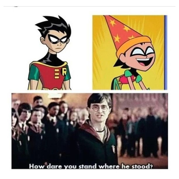 haha,this is probably the only Harry Potter Teen Titans crossover i