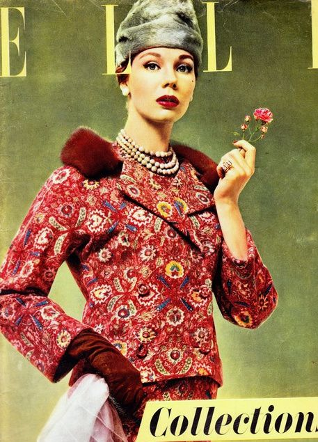 1956 - Elle cover in Christian Dior