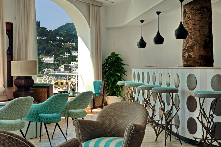 Capri Tiberio Palace Capri, Spaces and Interiors
