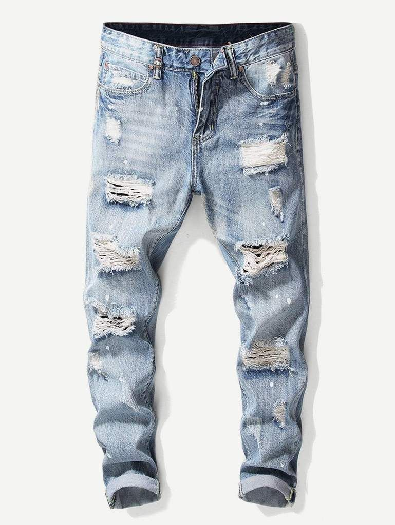 e094022d Men Destroyed Plain Jeans in 2019 | Men's Pants & Shorts | Jeans ...