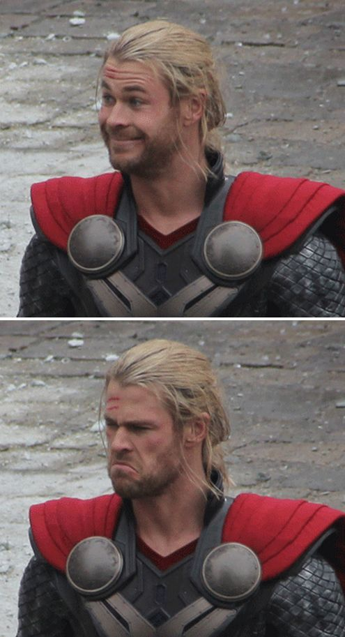 Thor has the greatest facial expressions