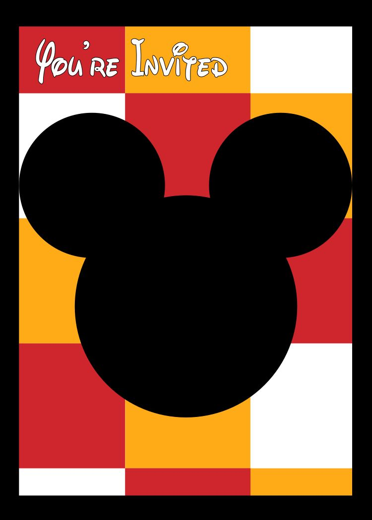 Mickey Mouse Invitation and How to Customize it | Mickey mouse ...