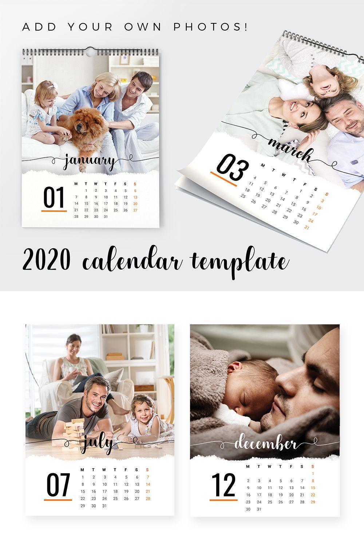 2020 Calendar Printable Template Add Your Own Photos Photo