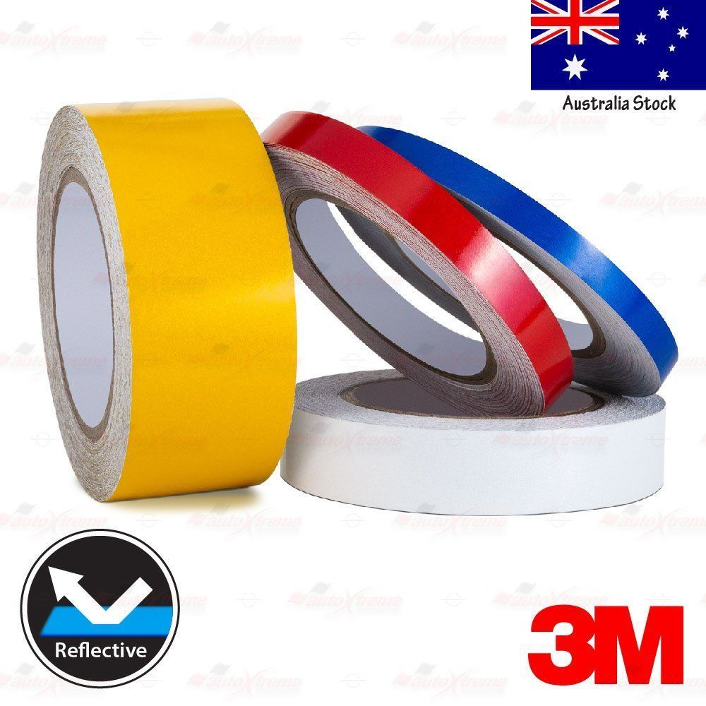 3m Reflective High Visibility Waterproof Decal Tape Stickers 10mm 15mm 25mm 50mm Reflective Decals Reflective 3m Reflective
