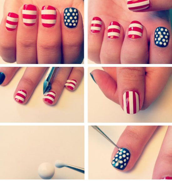 July 4th Flag Nails Click Pic For 21 Diy 4th Of July Crafts For Kids To Make Easy 4th Of July Craft Ideas For P Nails For Kids Kids