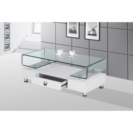 Best Quality Furniture Coffee Table With Top Square Shape Clear