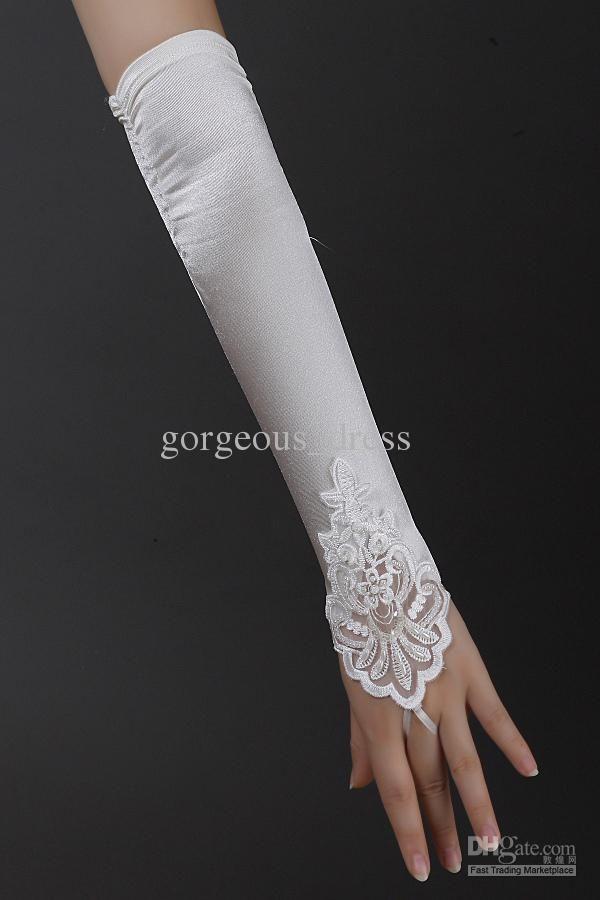 White//Ivory Ladies Lace Bridal Wedding Costume Dance Prom Evening Women Gloves