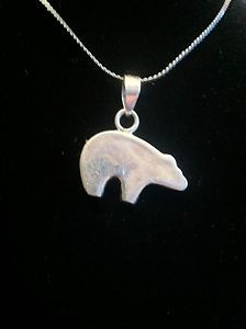 16 sterling silver necklace and polar bear pendant jewelry 16 sterling silver necklace and polar bear pendant aloadofball Images