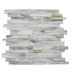 Ivy Hill Tile Matchstix Halo 12 In X 12 In X 3 Mm Glass Floor