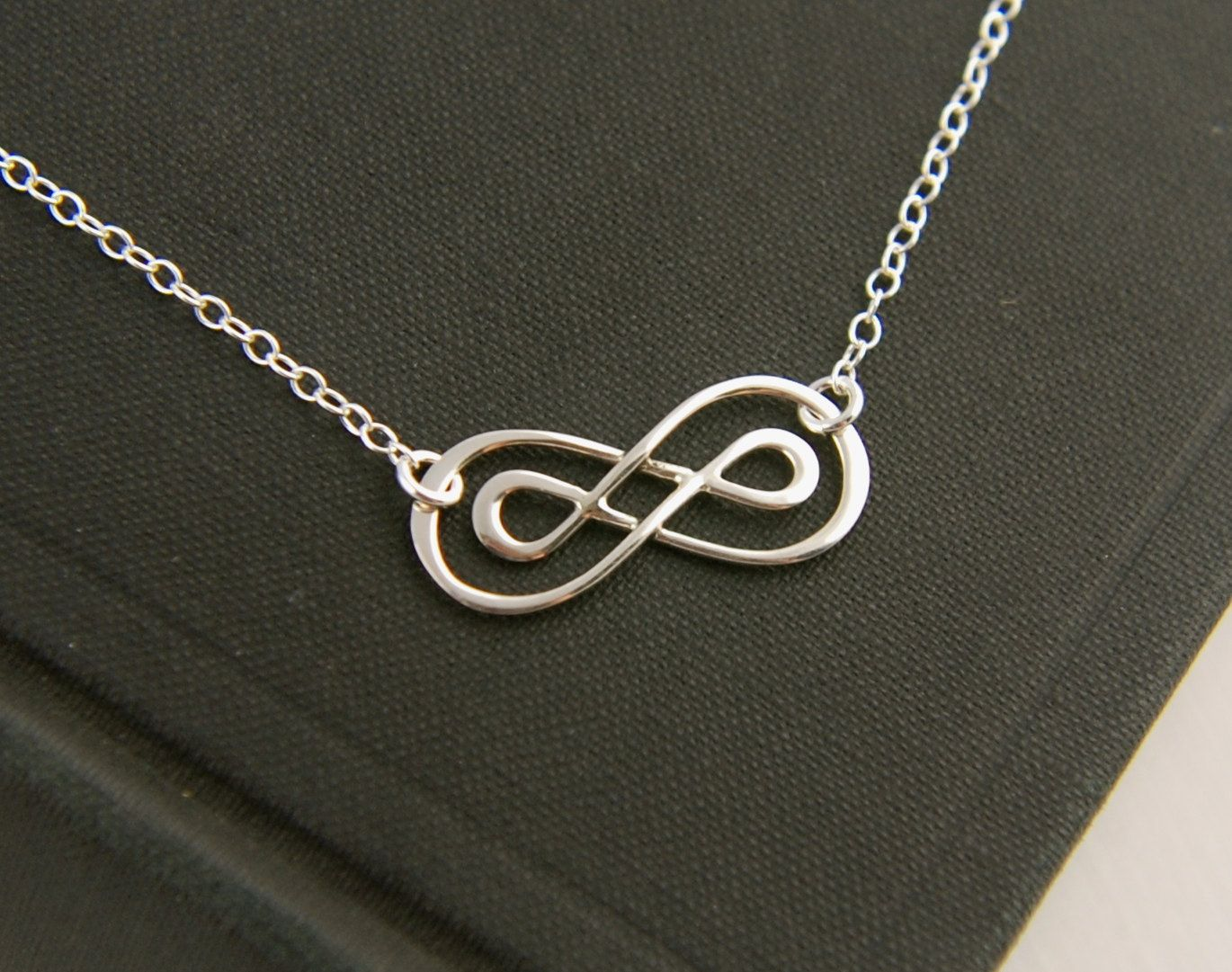 Double Infinity Necklace In Sterling Silver Sterling Silver