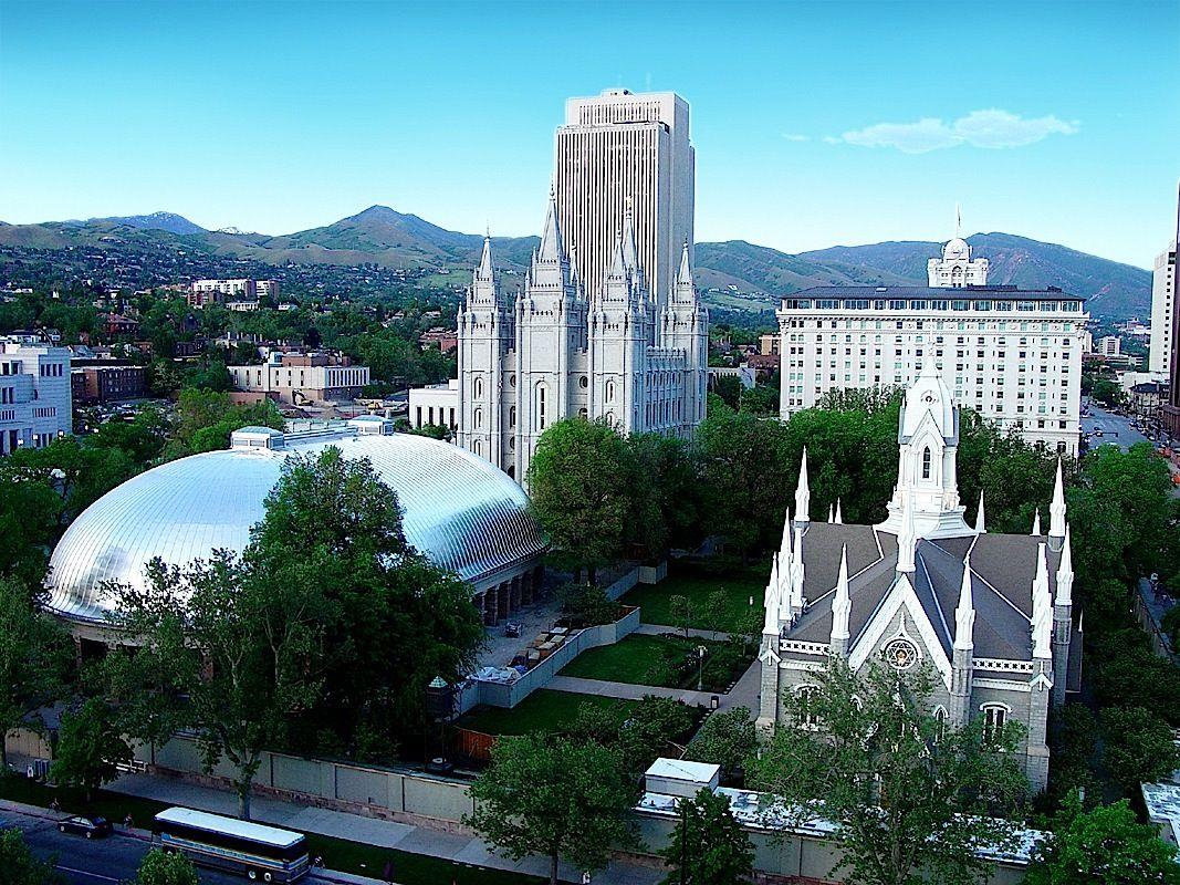 Historic Temple Square In Salt Lake City Utah The Church Of Christ Latter Day Saints Mormons