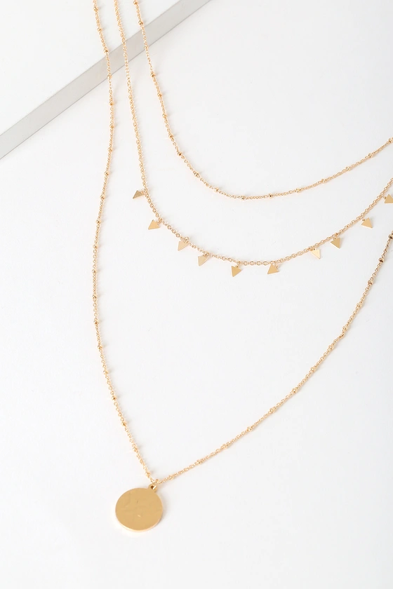 Sariah Gold Layered Necklace In 2020 Layered Necklaces Gold Necklace Layered Layered Necklaces Boho