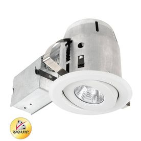 Utilitech White With Gimbal 4 In Remodel Recessed Ceiling Light Kit With Images Recessed Lighting Kits