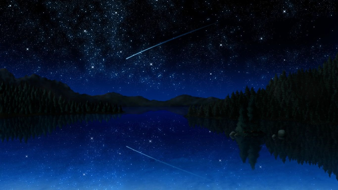 Night Sky Forest Wallpaper 1080p Anime Scenery Wallpaper Scenery Wallpaper Night Scenery