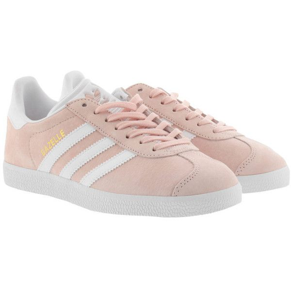new style 93754 2ef9c adidas Originals Sneakers - Gazelle Sneaker Vapour Pink White Gold -...  ( 110) ❤ liked on Polyvore featuring shoes, sneakers, rose, gold shoes, ...
