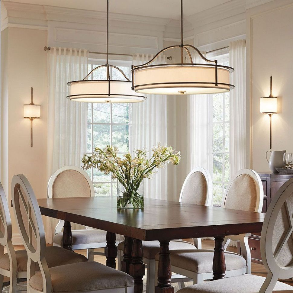 25 Awesome Traditional Dining Design Ideas: Awesome Lighting Over Dining Room