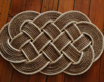 Ocean Plait Rope Doormat By Ropeworksbyliam On Etsy