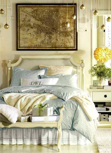 Cottage ○ Blue  Cream Bedroom Beautiful bedroom ideas Pinterest