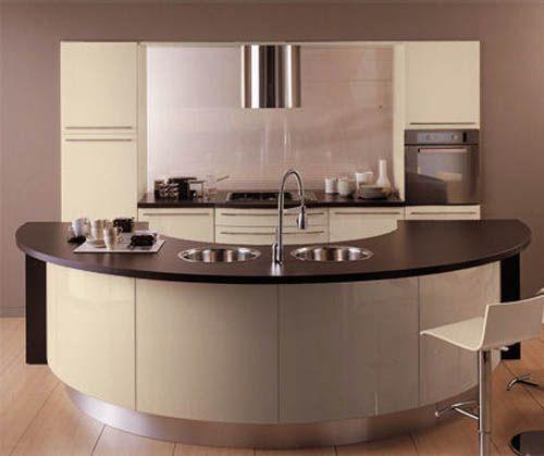 kleine-halbrunde-Küche-K konyha Pinterest House and Kitchens - bilder in der küche