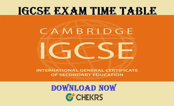 IGCSE Exam Timetable 2019 !!   Education   Igcse exam, Exam schedule
