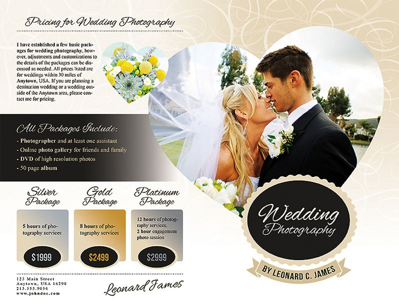 Wedding Photography Services Brochure | Photography services ...