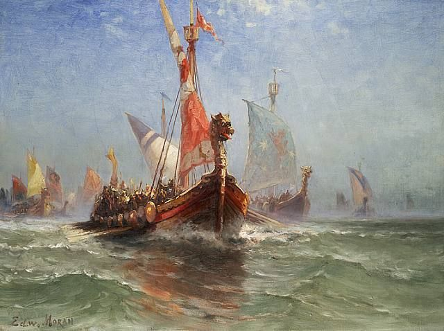 The Story Of Rollo The Viking The Rest Is History Norwegian Vikings Vikings Painting