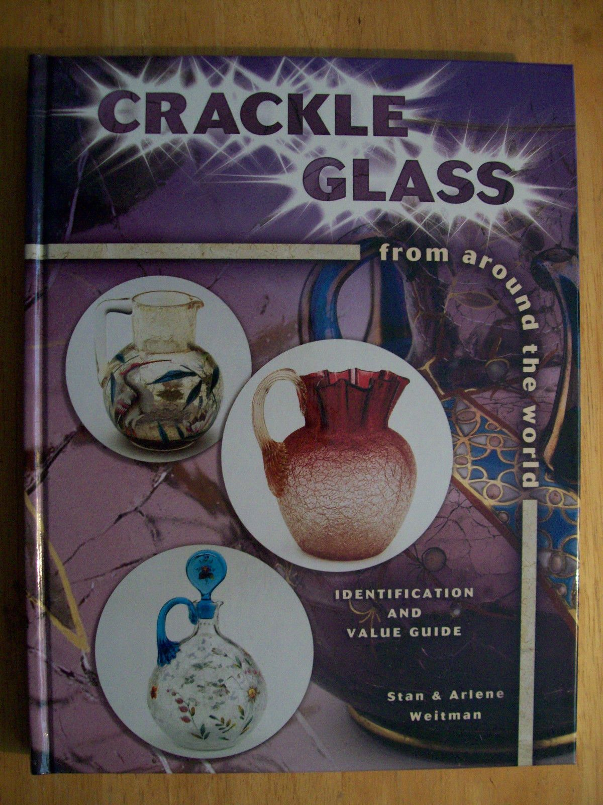 VINTAGE CRACKLE GLASS PRICE GUIDE COLLECTOR BOOK HARDBACK COLOR PICS ...