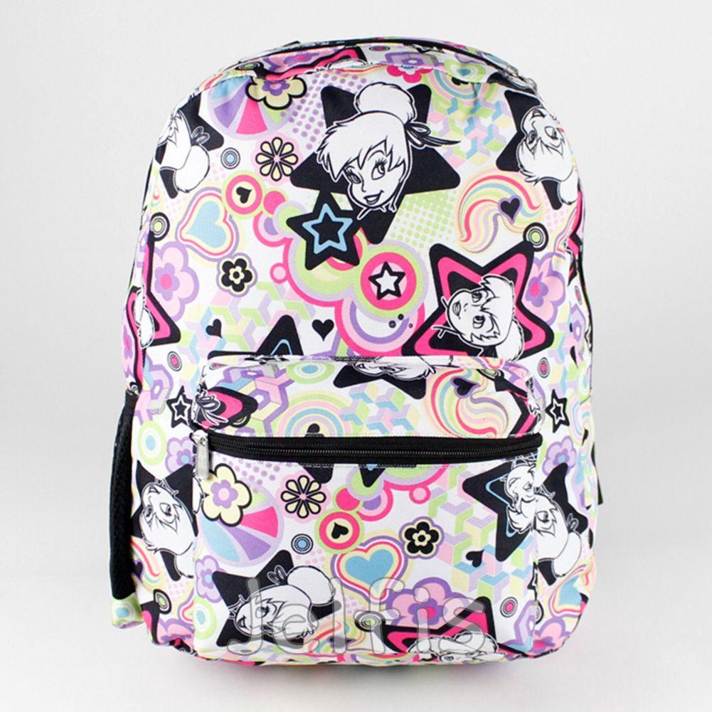 Jelfis.com - Disney Tinker Bell Backpack - 16\' Large Colorful ...