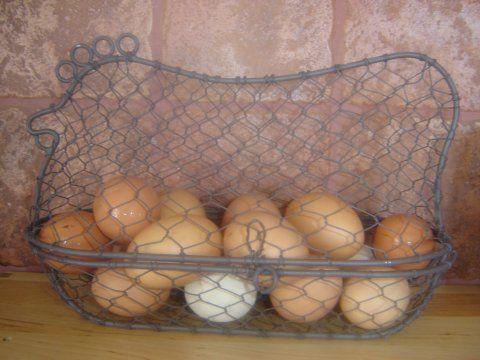 Wire chooky egg holder