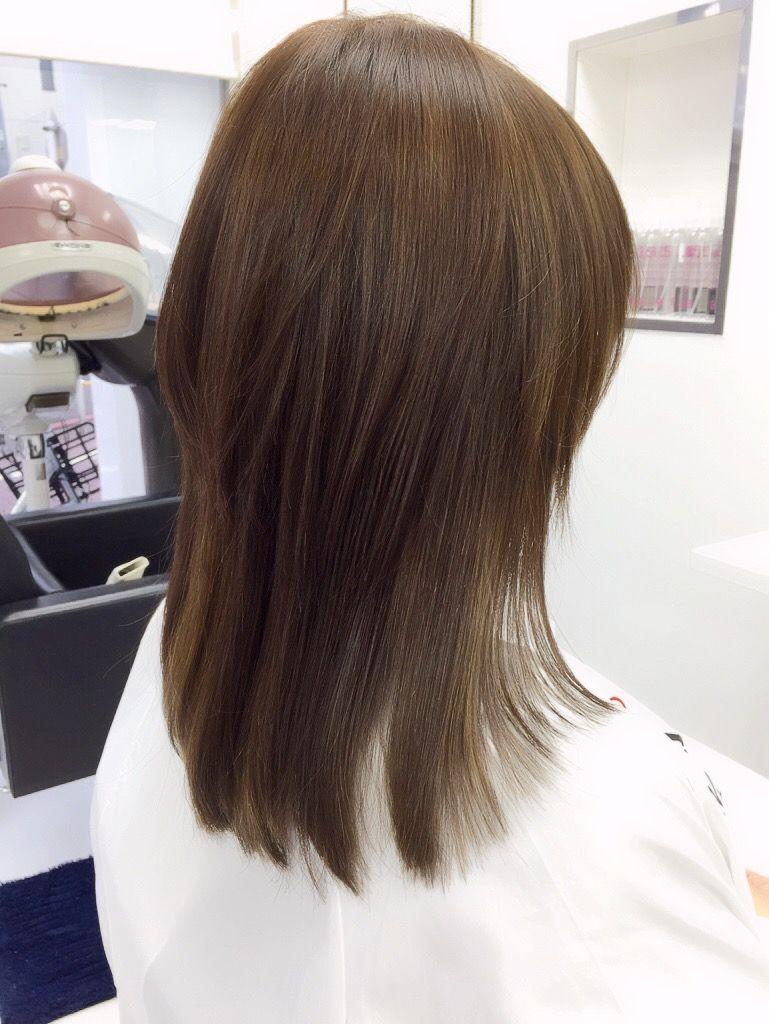 大田区の美容室 美容院 クークム ハイレイヤーのストレート縮毛矯正 2020 ヘアカット ヘアスタイリング ロングのレイヤー入りヘア