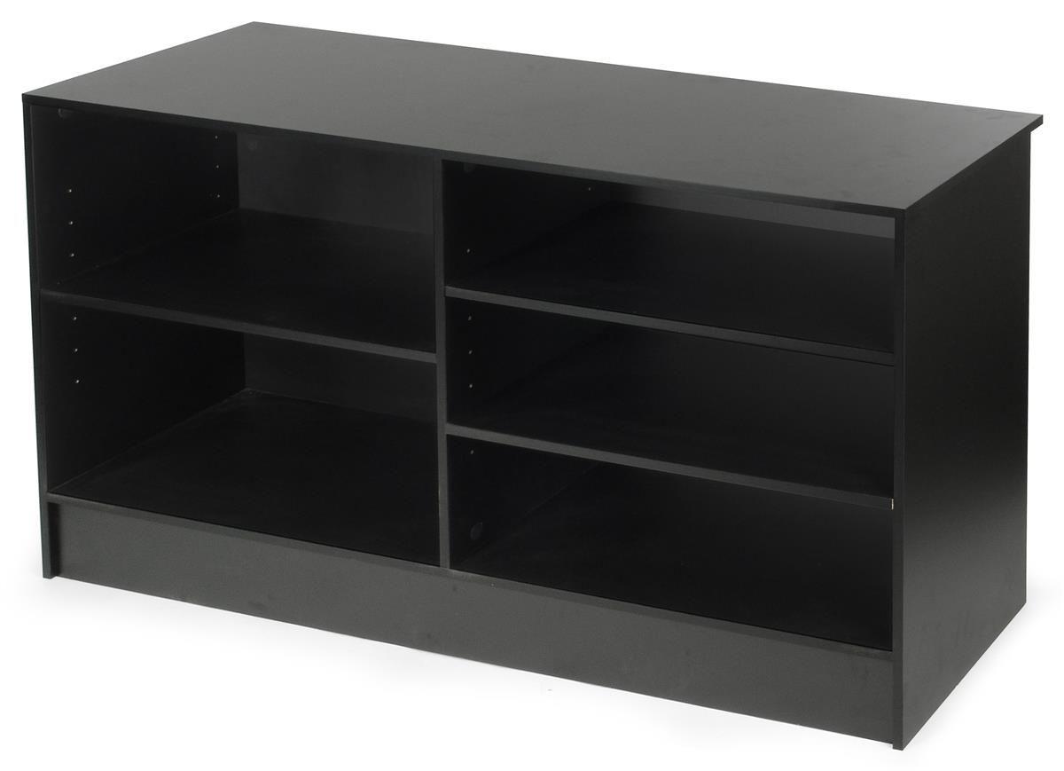 Black cash wrap w adjustable storage shelves