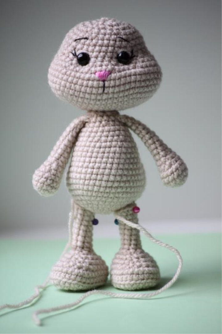 How to Make Amigurumi Bunny | Vyšity obličej | Pinterest | Häkeln ...