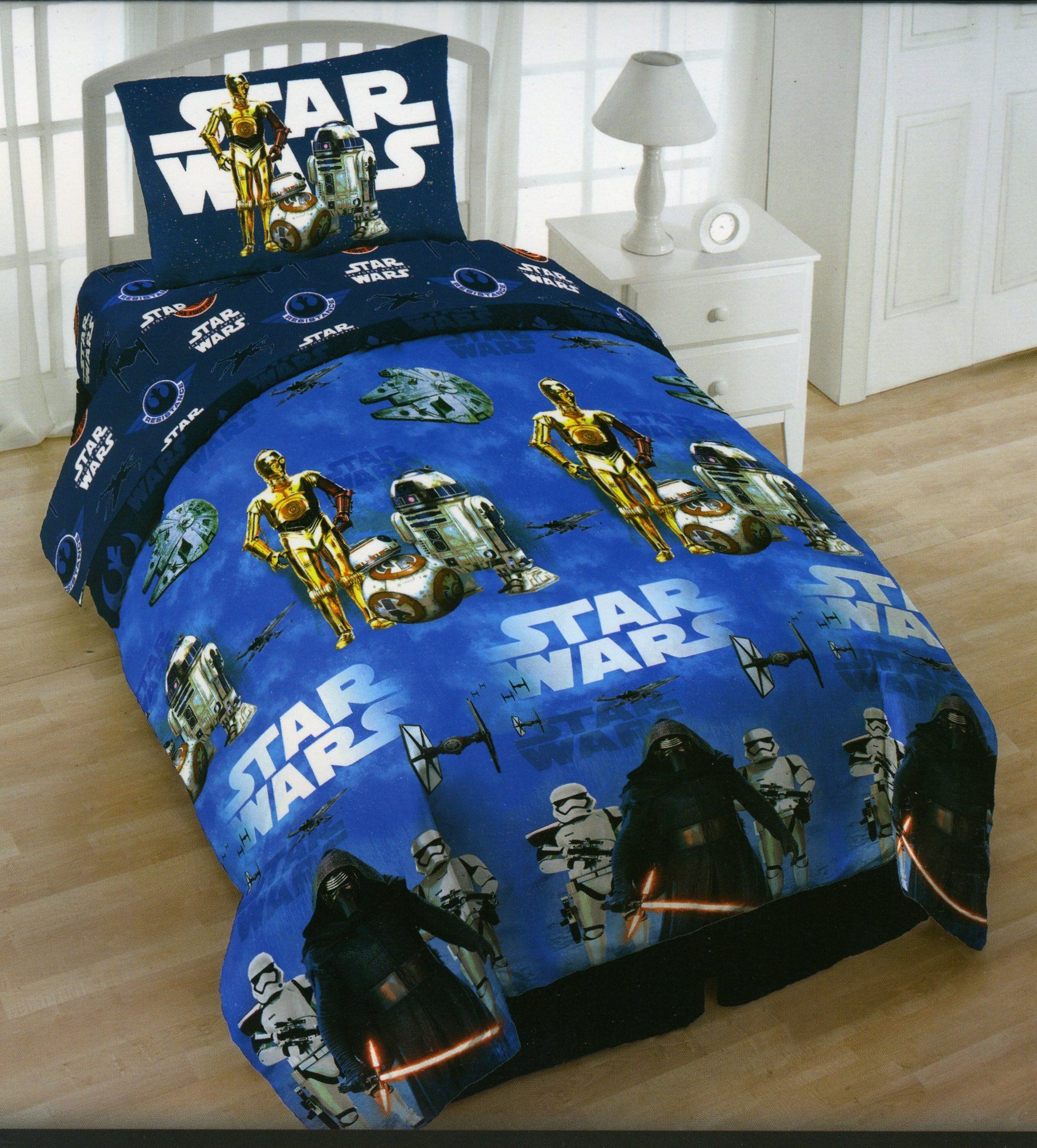 Star Wars Twin 4 Piece Bedding Set With Tote Reversible
