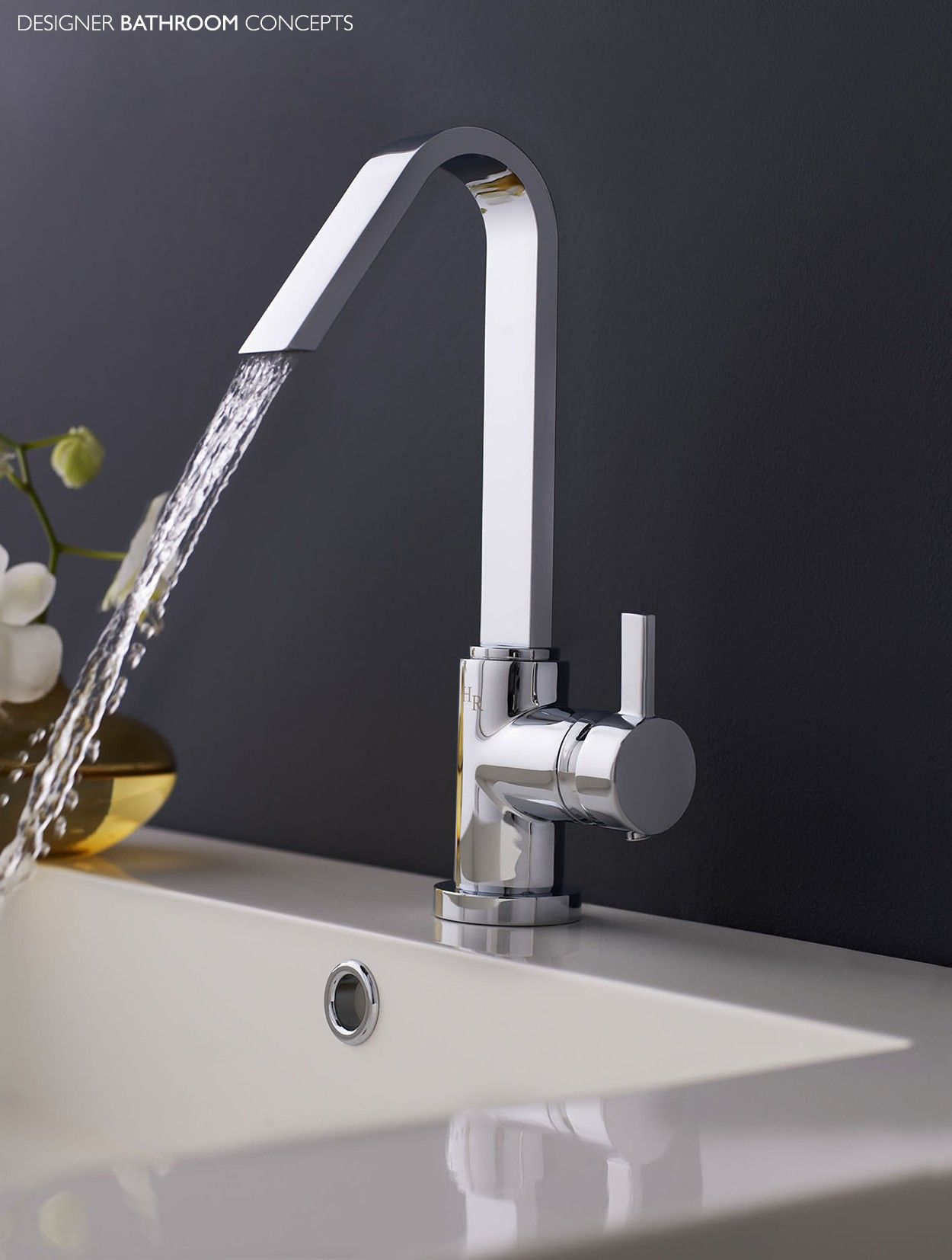 The Clio Designer Side Action Single Lever Mono Basin Taps offers a ...