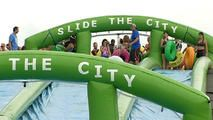 Giant Slip-and-Slides Hit Chicago, Head for Midwest Stops - http://www.nbcchicago.com/news/local/giant-slip-and-slides-hit-chicago-other-midwest-stops-388786432.html