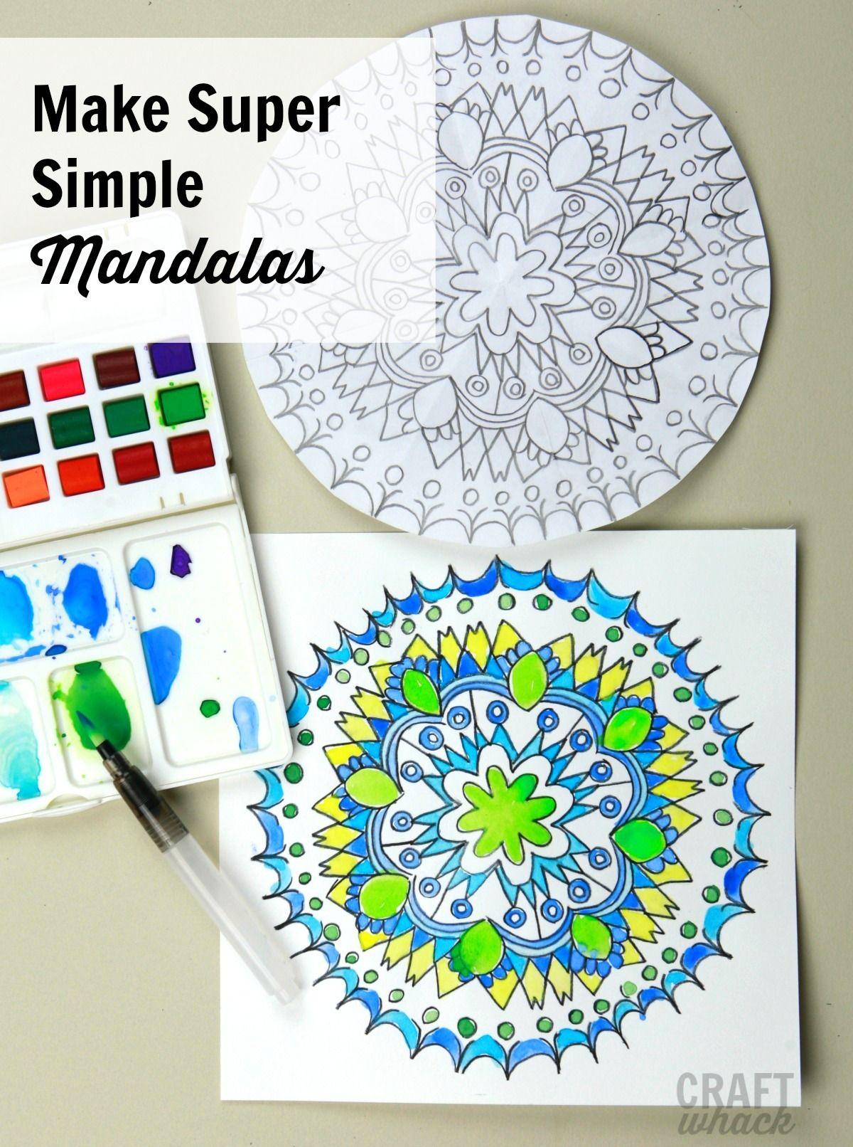 Easy Mandalas | Mandala, Mandala art, Art for kids