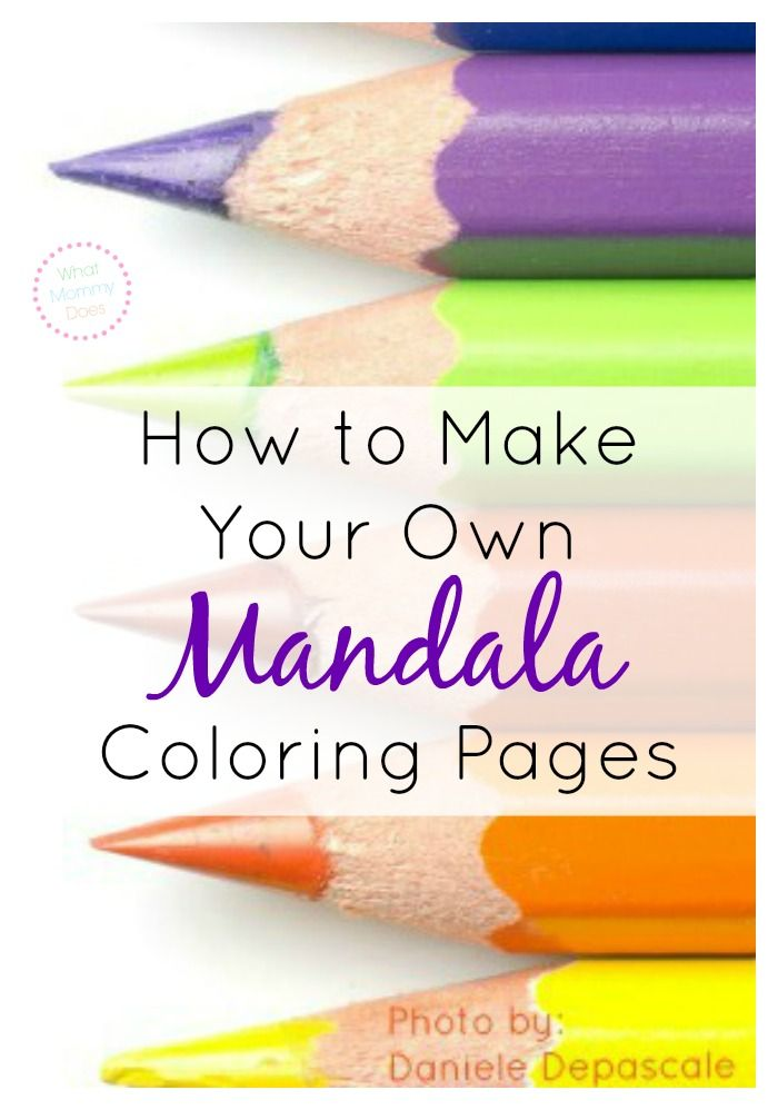 How to Make Your Own Mandala Coloring Pages for Free Online | Color ...