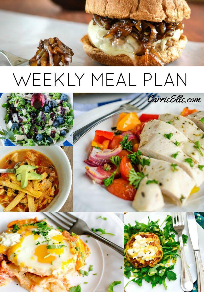 Weekly Meal Plan June 4, 2017 menu planning Week meal